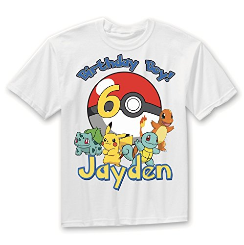 Pokemon Birthday Shirt Add Name & Age Pokemon Custom Birthday Party TShirt, Pokemon party shirt, Pokemon shirts, by Party Style Store