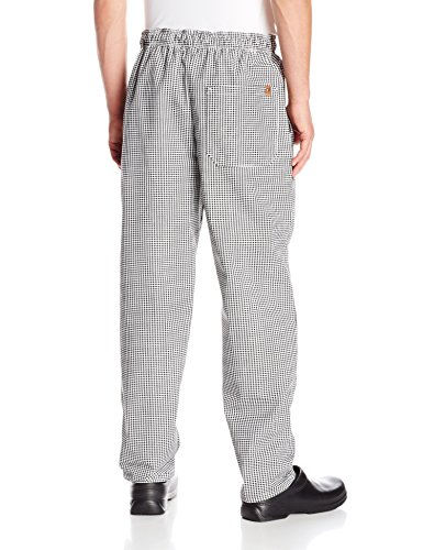 Chef Designs Red Kap Men's Baggy Chef Pant, Black/White Check, Medium by Chef Designs (Image #2)