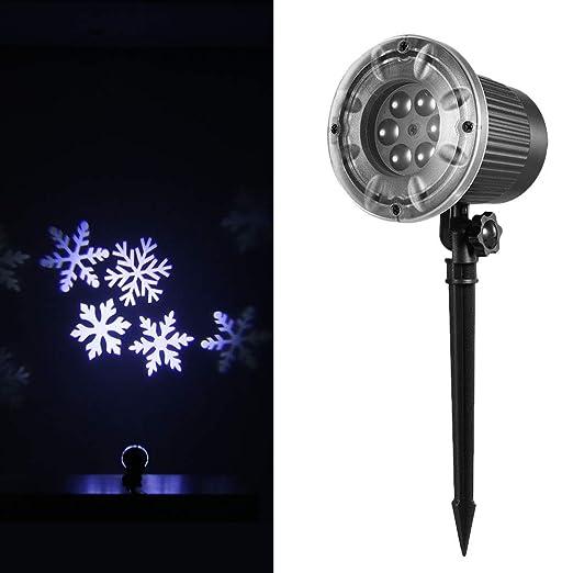 Festnight Proyección Luz Animado Proyector Led Copo de Nieve ...