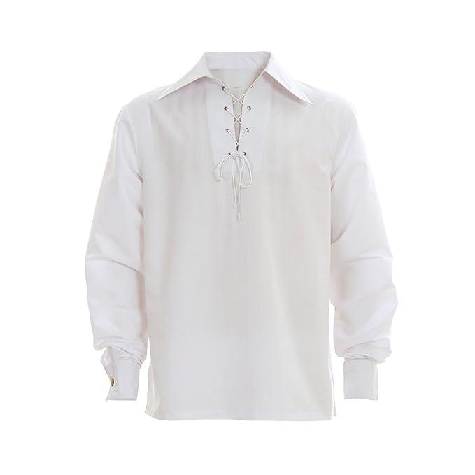 COUCOU Age Camisa Medieval Hombre Cordones Traje Camisa ...