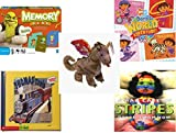 Children's Gift Bundle - Ages 3-5 [5 Piece] - Shrek Forever After Memory Game - Dora's World Adventure Music CD - Ty Beanie Baby - Scorch the Dragon - Thomas & Friends: Thomas and Gordon / Thomas' T