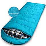 Adult Sleeping Bag for Camping, Waterproof Envelope Lightweight Mummy Sleep Bags With Compression Sack, Great for Backpacking,Travel, Hiking, Outdoors with Comfort Pillow, Fits women & men 3-4 Season For Sale