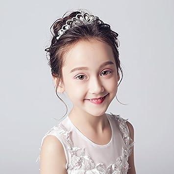 XPY DGX Bride Boda Prom Horquillas Tocado Accesorios para el Cabello de la  Corona del Niño Niña 33b2124f30ac