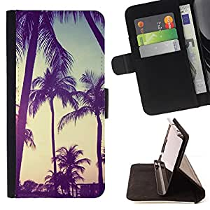 For sony Xperia M4 Aqua Vintage Vignette Summer Style PU Leather Case Wallet Flip Stand Flap Closure Cover