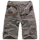Best Mens Cargo Shorts - Elonglin Mens Cargo Shorts Cropped Outdoor Vintage Bermuda Review