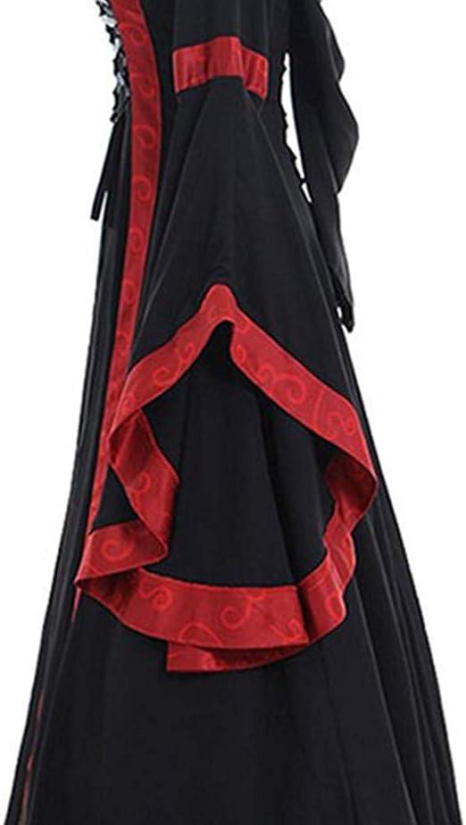 Sannysis damska sukienka średniej wieku, w stylu retro, renesans, kostium wiktoriański, księżniczka, sukienka średniowieczna, Halloween, cosplay, sukienka na imprezę, z kapturem, długa sukie