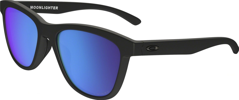 Oakley Women's Moonlighter Polarized Iridium Round Sunglasses, Matte Black, 53.01 mm