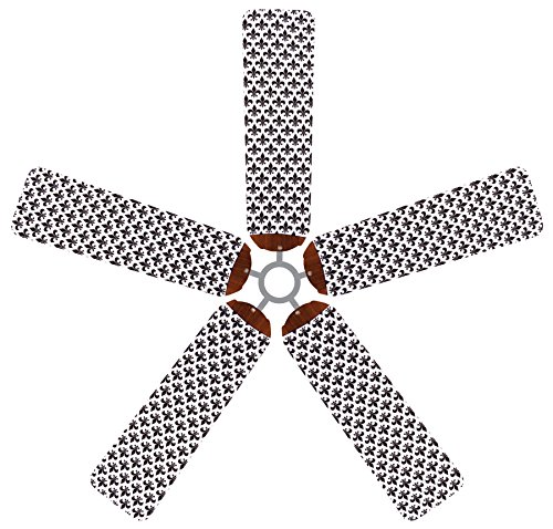 French White Fan Blades - Fan Blade Designs Fleur-de-lis Ceiling Fan Blade Covers