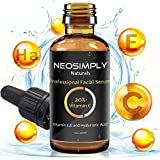 Neo Simply Naturals - 1 Oz Vitamin C 20% - Hyaluronic Acid & Vitamin E Serum Anti Aging Anti Acne Treatment - Professional Grade - Deep Hydration- Best For The Ultimate Face Rejuvenation (1 Oz / 30ml)