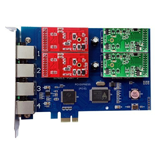 2 Fxs Port Pci Card - Analog Card with 2 FXO +2 FXS Ports,PCI Express (PCI-E) Connector,For Issabel,Freepbx tdm410e tdm400e