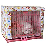 Alfie Pet by Petoga Couture - Chaney Pet Polyester Crate Cover - Pattern: Flower, Size: Small