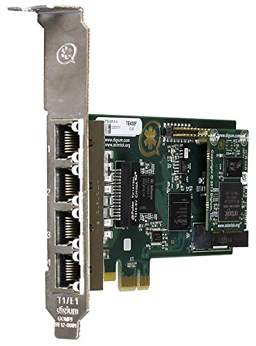 Digium 1TE435BF 4 Span Digital T1/E1/J1/PRI PCI-Express X1 Card and Hardware Echo Cancellation by Digium
