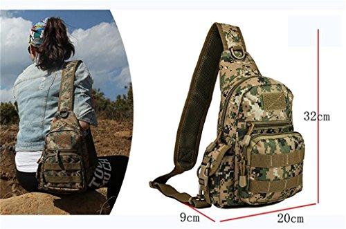 TaoMi- Mochila al aire libre - bolsa de la cámara bolso de camuflaje hombro hombres y mujeres paquete al aire libre deporte bolsa Messenger Bag ( Color : D , Tamaño : 20L or less ) E