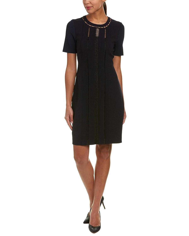 Elie Tahari Womens Marion Pleated Short Sleeves Wear To Work Dress by Elie+Tahari
