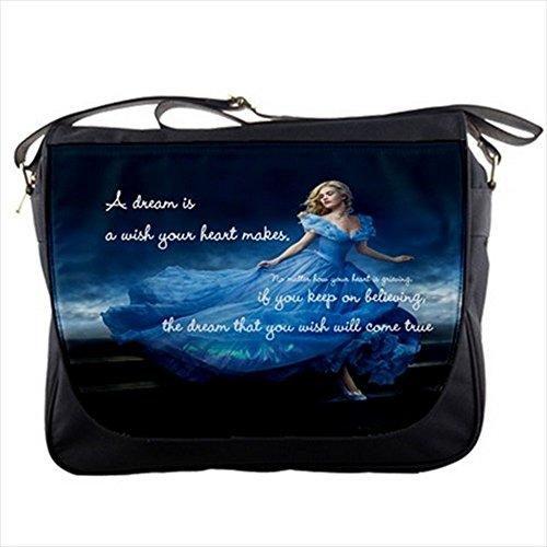 NEW Princess Cinderella 2015 with quote Shoulder Messenger Bag Satchel for School College Work Collectible