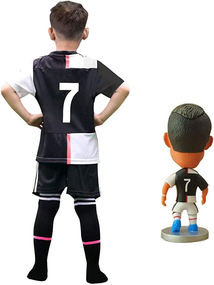 RIKPR #7 Soccer Jersey Kids Youth Football Shirt with Dolls Socks Name Birthday Gift for Boys Grils