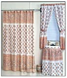 Home Fashions Ocean Sea Shells Shower and Window Curtain Set