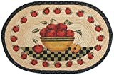 Kitchen Rugs Apple Design Earth Rugs 90-438 Apple Bowl Oval Design Rug, 20 by 30