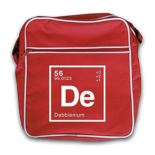 Retro Red Dressdown Periodic Element Flight Debbie Bag gqgxatwCH