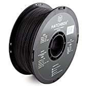 HATCHBOX 3D ABS-1KG1.75-BLK ABS 3D Printer Filament, Dimensional Accuracy +/- 0.05 mm, 1.75 mm, Black