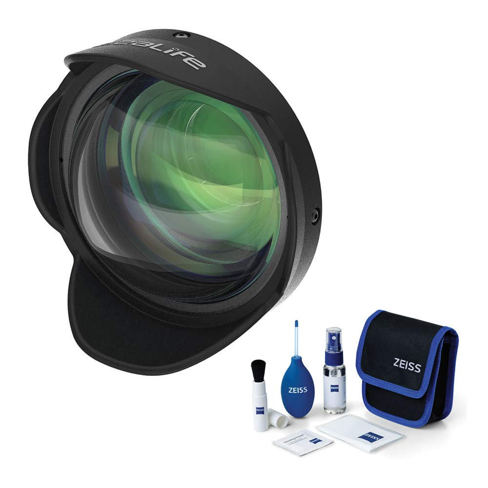 SeaLife 0.5X Wide-Angle Dome Lens with 52mm Adapter for DC-Series Cameras & Lens Cleaning Bundle by SeaLife