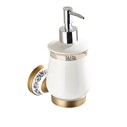 Accessori da bagno Dispensador de jabón European Antique Design Punch Montado en la pared para champú