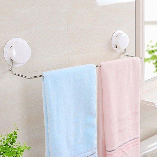 Hlluya Toallero La Ventosa Varilla de Toallas sanitarias Fuertes Toalla Toalla de baño de Acero Inoxidable Varilla toallero, Blanco: Amazon.es: Hogar