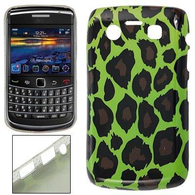 eDealMax Leopardo de impresión de plástico de Nuevo caso del IMD Verde Para BlackBerry 9700 9020