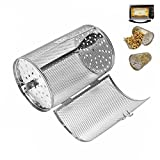 12x18cm Stainless Steel Oven Roast Basket Rotisserie Grill Basket Baking Rotary Nuts Beans Peanut Basket BBQ Grill Bakeware
