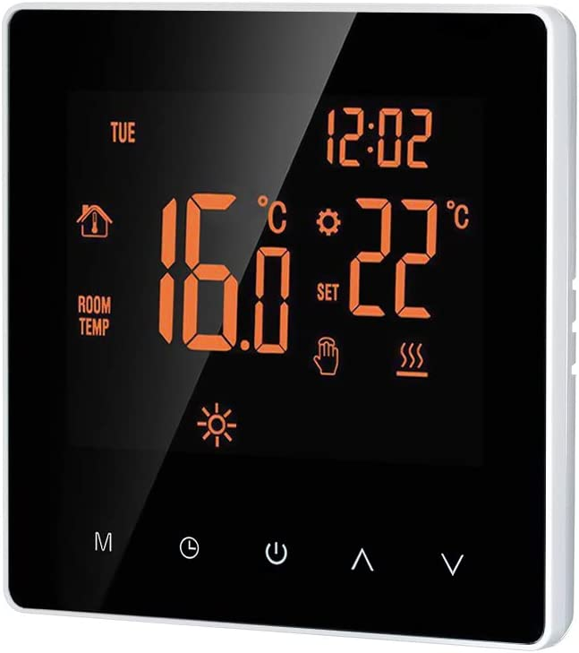 Termostato wifi suelo radiante electrico digital calefaccion,termostato programable inteligente digital 16A termostatos digitales programables para suelo radiante