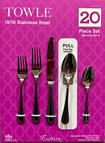 Towle Wave - Towle 18/10 Stainless Steel 20 Piece Set w/ Art Design