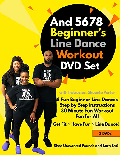 And 5678 Beginner's Line Dance Workout DVD Set with Water Bottle