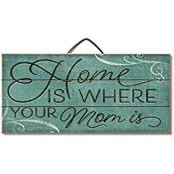Home Is Where Mom Is Reclaimed Wood Pallet Sign - Made in USA!