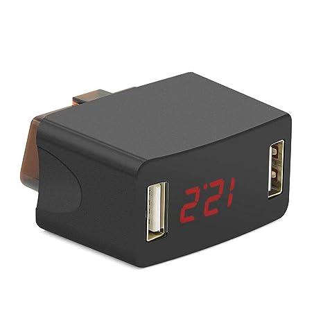 GMtes Mini Cargador de Coche OBD, Salida USB Dual 2.3A ...