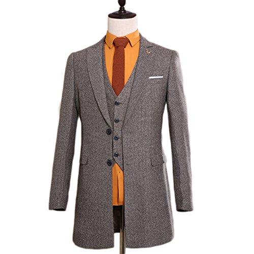 AK Beauty Men's Suit Slim Fit Man's Prom Suit (Jacket+Pants+Vest+Tie) XXXXXL by AK Beauty