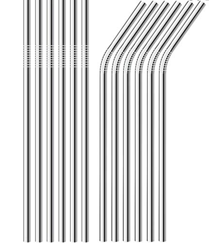 Sunwinc Stainless Steel Straws, 400 Pcs Reusable Metal Straws.For Tumblers Yeti Cups Travel Mugs,Reusable Rustproof Eco-Friendly Dishwasher by Sunwinc (Image #4)