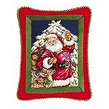 14'' x 18'' Needlepoint Pillow - Santa with Deer