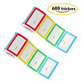 Benail Colorful Plain Name Tag Labels - 300 Stickers / 1 Roll - 3 1/2 X 2 1/4 --2 Roll