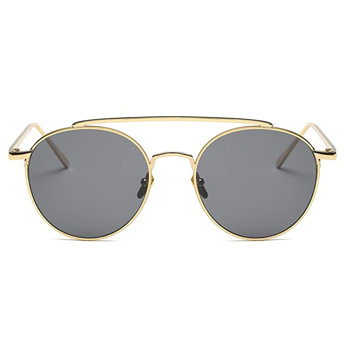 NUVOLA occhiali da sole occhiali UV donna uomo fashion rotondo lente grigio cornice oro buon regalo san valentino oDjiVywC