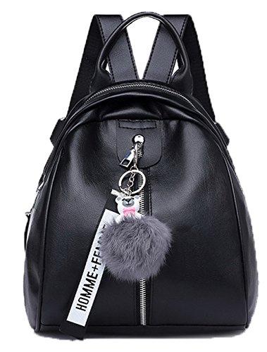VogueZone009 Femme Mode Courts voyages Zippers Dacron Sacs à bandoulière Noir