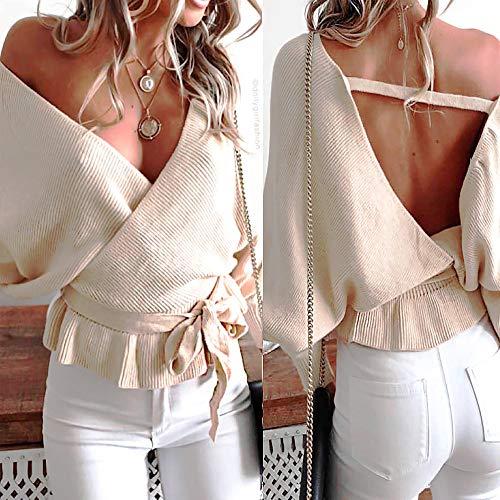 et Lache Longue 1 Shirt Dcontracte Automne Manches Tops Top Mode T Simple Femmes Blouse Crop Sweatshirts Chemise Casual Vetements Sexy Haut OVERMAL Kaki Chic Imprim t dI8qUOwU
