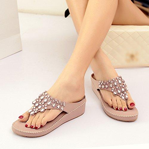 Slipper Purple Comfy Thong Womens Wedge Prime Summer Sandals String DophinGirl Baby Rhinestone JX00006 Shoes 68OSqqn