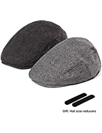 f2770d51303 Men Newsboy Cap Ivy Hat - 30% Wool Cabbie Hats for Men Irish Tweed Flat
