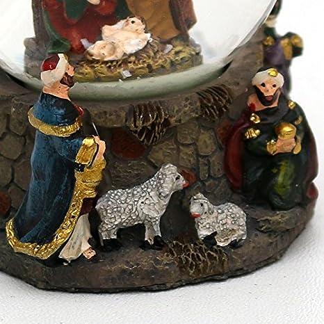 Disegno Bellisima palla di vetro con neve circa 6,5 x 5 cm// /Ø 4,5 cm Sacra Famiglia con Re Magi