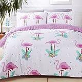 Rapport Flamingos Duvet Set, Polyester-Cotton, Multi-Colour, Single
