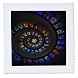 3dRose Print of Church Stained Glass in Circular Pattern - Quilt Square, 12 by 12-Inch (qs_210592_4)