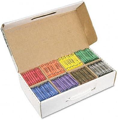 dixonamp; reg; ceras, 100 cada uno de ocho colores, 800 por caja: Amazon.es: Oficina y papelería