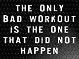 Workout Poster Gym Quotes Fitness Motivation Poster 18×24 WO115