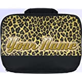 Leopard Print Personalised Children's School Lunch Box / Bag