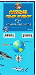 Waterproof recreational map for scuba divers, snorkelers, explorers, tourists. Locations and detailed descriptions of dive sites. Illustrations and common names (in English and Spanish) of 100+ coral reef creatures. Snorkeling sites, archaeol...